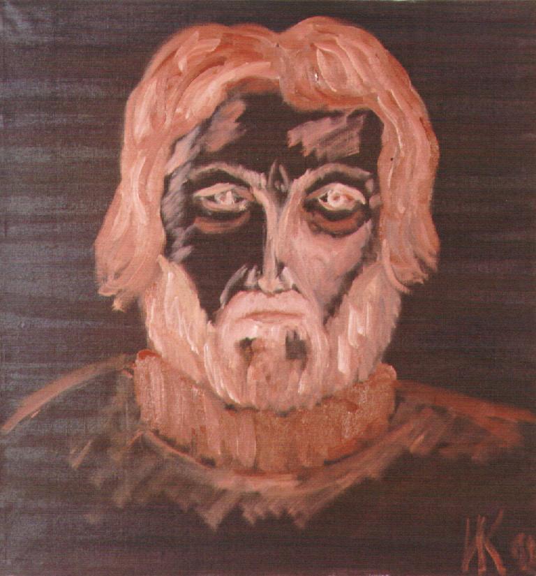 Self-portrait (Stubborn). 1998