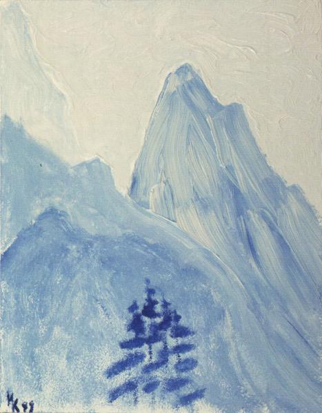 Transparent world. Canvas, oil. 1998