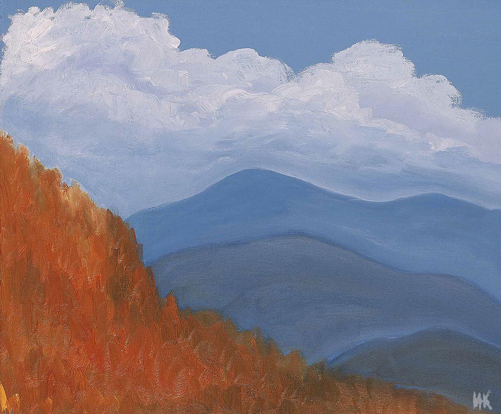 Autumn in the valley (50х60). 2000