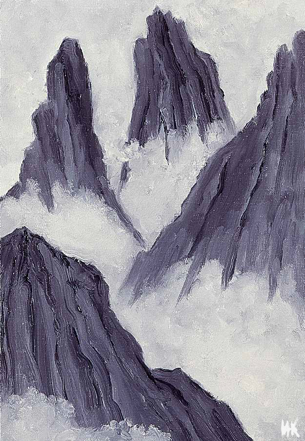 The Tops (60х40). Canvas, oil. 1999