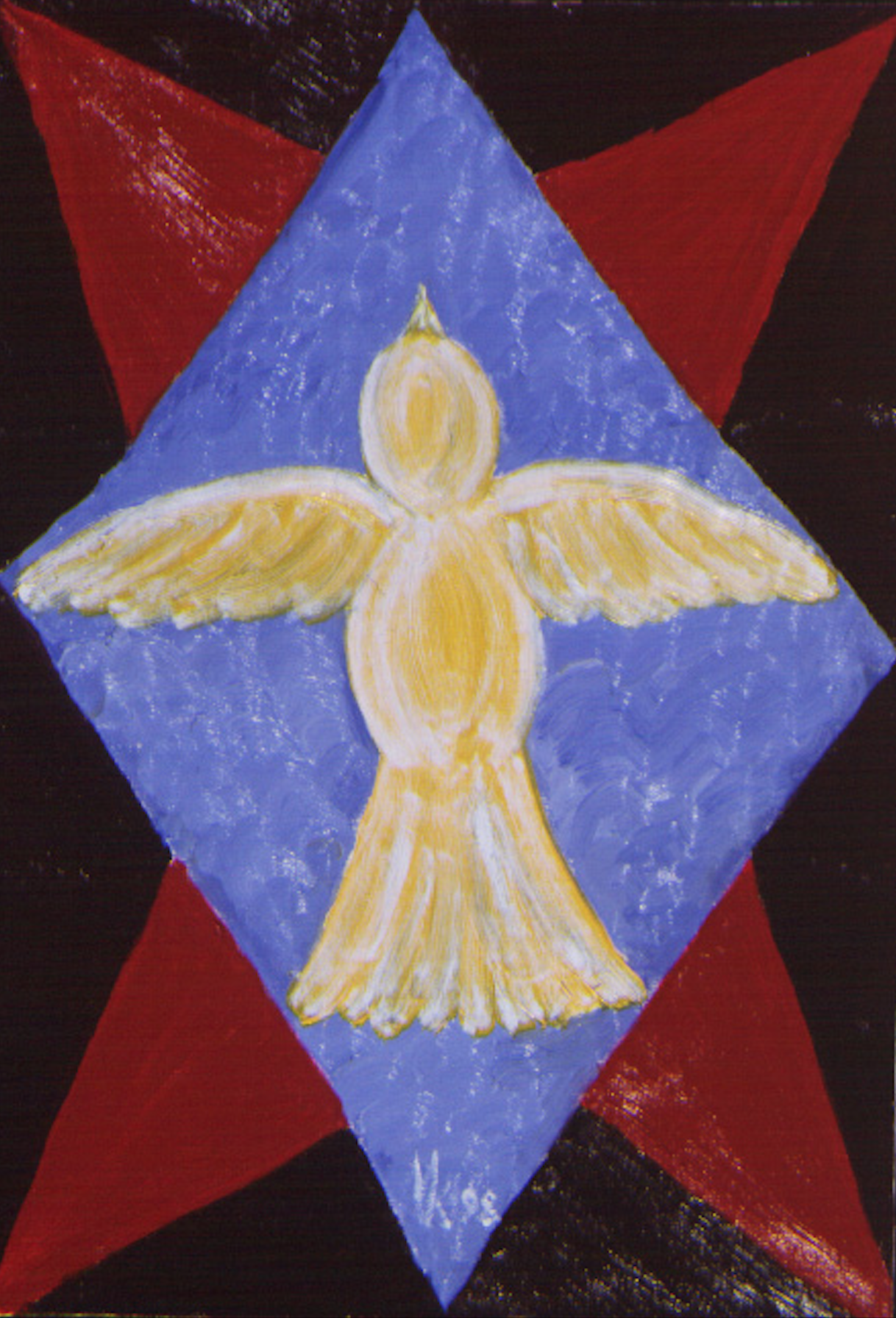 The icon of the crucified birds. 1998