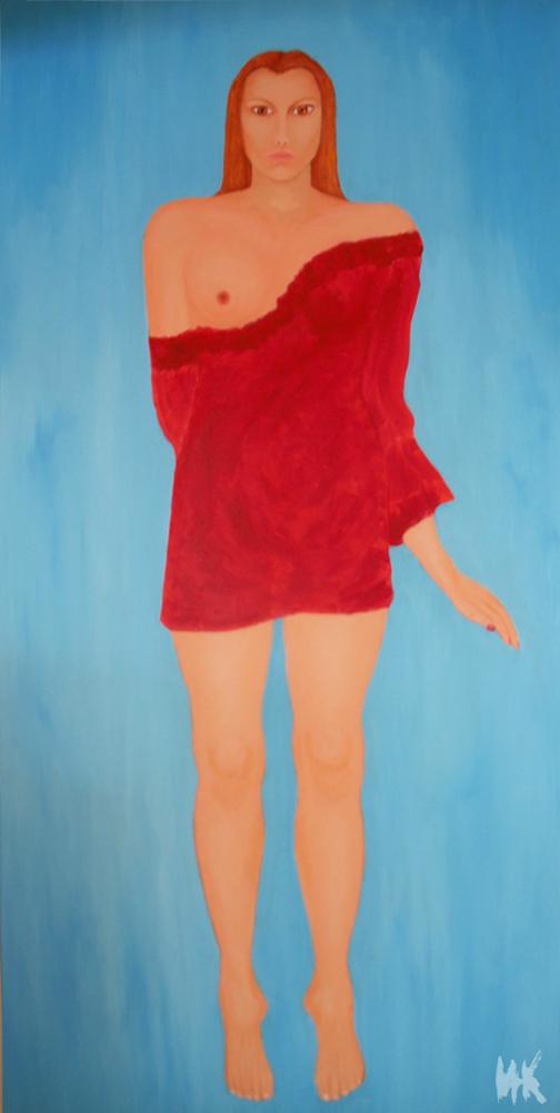 Flying girl (200x100). 2003