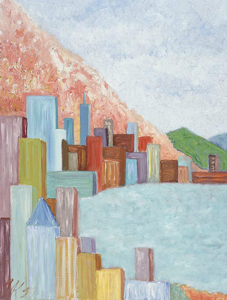 Cheerful Hong Kong City (80х60). 1999