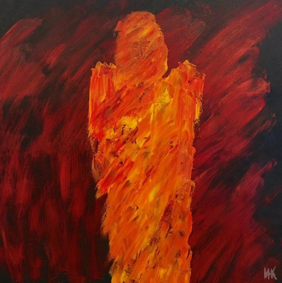 Fire warrior. Сanvas, oil. 2016