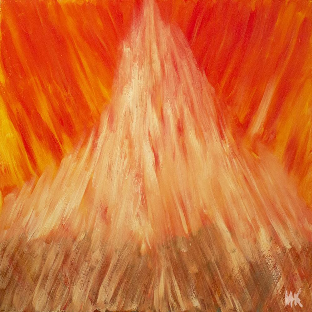 Holy Fire (100х100). Canvas, oil. 2014