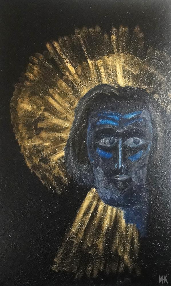 Ancestors Gold. Сreation process. (left part of triptych 200х140). 2010-2011